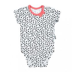 Dojčenské bavlnené body s krátkym rukávom Nicol Alice multicolor