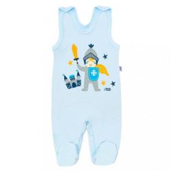 Dojčenské bavlnené dupačky New Baby Knight modrá