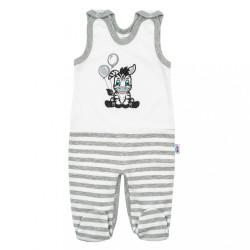 Dojčenské bavlnené dupačky New Baby Zebra exclusive biela