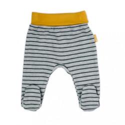 Dojčenské bavlnené polodupačky Nicol Prince Lion sivá