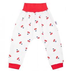 Dojčenské bavlnené tepláčky New Baby Cherry Červená