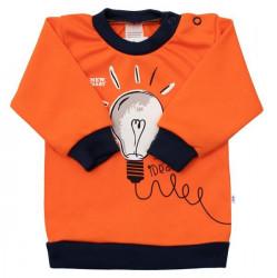 Dojčenské bavlnené tričko New Baby Happy Bulbs oranžová