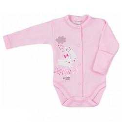 Dojčenské body celorozopínacie Bobas Fashion Mini Baby ružové