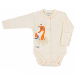 Dojčenské body celorozopínacie Bobas Fashion Mini Baby smotanové