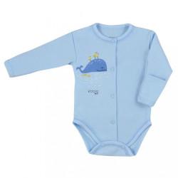 Dojčenské body celorozopínacie Koala Happy Baby modré