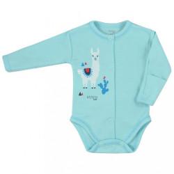 Dojčenské body celorozopínacie Koala Happy Baby tyrkysové