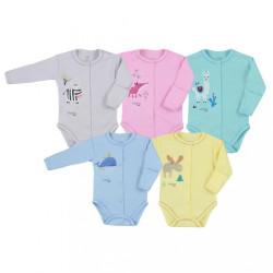 Dojčenské body celorozopínacie Koala Happy Baby žlté #1