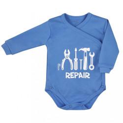 Dojčenské body celorozopínacie Koala Repair blue modrá