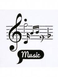 Dojčenské body celorozopínacie New Baby Music biela #1