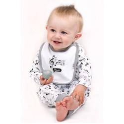 Dojčenské body celorozopínacie New Baby Music biela #3