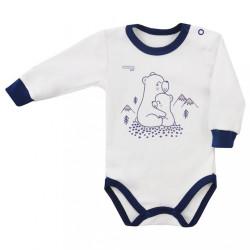 Dojčenské body Koala Tajga biele