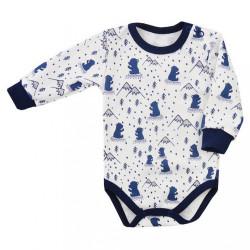 Dojčenské body Koala Tajga modré