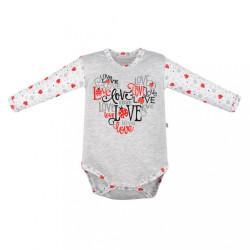Dojčenské body New Baby LadyBird sivá
