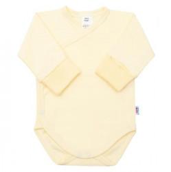 Dojčenské body s bočným zapínaním New Baby žlté