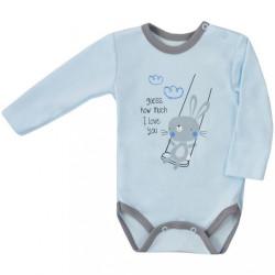 Dojčenské body s dlhým rukávom Koala Swing modré