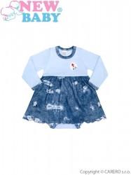 Dojčenské body so sukienkou New Baby Light Jeansbaby modré