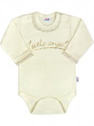 Dojčenské bodys dlhým rukávom New Baby Angel béžové