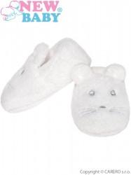 Dojčenské capačky New Baby biele