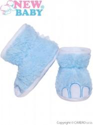 Dojčenské capačky New Baby Dino modré