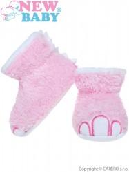 Dojčenské capačky New Baby Dino ružové