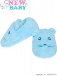 Dojčenské capačky New Baby modré