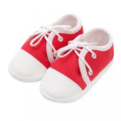 Dojčenské capačky tenisky New Baby červené 3-6 m
