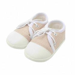 Dojčenské capačky tenisky New Baby jeans béžové 0-3 m