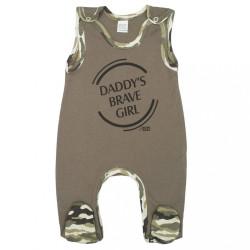 Dojčenské dupačky New Baby Army girl zelená