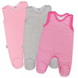 Dojčenské dupačky New Baby Classic II Dievča 3ks podľa obrázku
