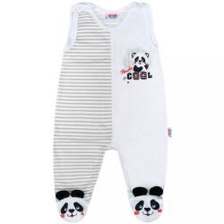 Dojčenské dupačky New Baby Panda sivá