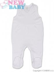 Dojčenské dupačky New Baby prúžok biela