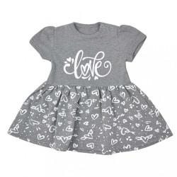 Dojčenské letné šaty Koala Love Summer grey sivá