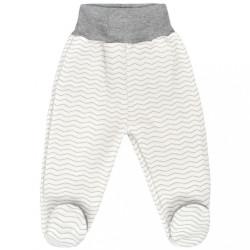 Dojčenské polodupačky Baby Service Cik-Cak sivá