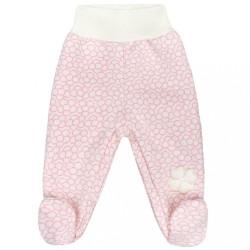 Dojčenské polodupačky Baby Service Štvorlístok ružová