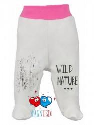 Dojčenské polodupačky Koala Magnetky Wild Bear bielo-ružové