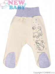 Dojčenské polodupačky New Baby Kamaráti smotanové