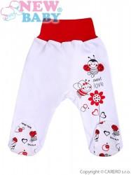Dojčenské polodupačky New Baby Lienka biela