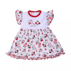 Dojčenské šaty New Baby Lienka biela