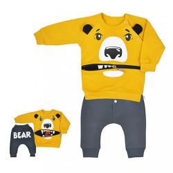 Dojčenské tepláčky a mikinka Koala Surprise horčicová Žltá