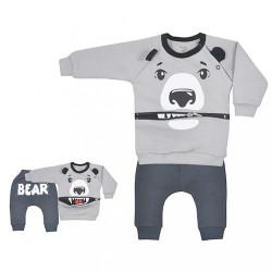 Dojčenské tepláčky a mikinka Koala Surprise sivá