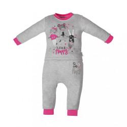 Dojčenské tepláčky a tričko Fit and Happy New Baby sivá