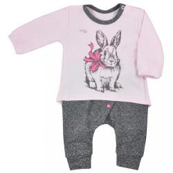 Dojčenské tepláčky a tričko Koala Anitka ružovo-šedá
