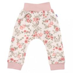 Dojčenské tepláčky New Baby Flowers ružové