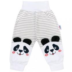 Dojčenské tepláčky New Baby Panda sivá