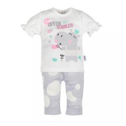 Dojčenské tričko s krátkym rukávom a tepláčky New Baby Queen sivá