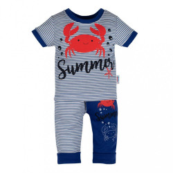 Dojčenské tričko s krátkym rukávom a tepláčky New Baby Summer modrá