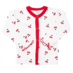 Dojčenský bavlnený kabátik New Baby Cherry Červená