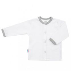 Dojčenský bavlnený kabátik New Baby Zebra exclusive biela