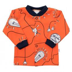 Dojčenský bavlnený kabátik New Happy Bulbs oranžová
