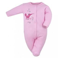Dojčenský bavlnený overal Koala Happy Baby ružový